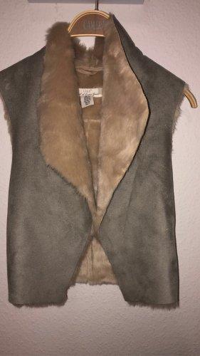 L.O.G.G Fur vest grey-nude
