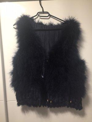 Fur vest dark blue