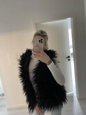 Femme mode siegen Fur vest black
