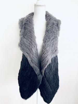 Oakwood Fur vest black-light grey