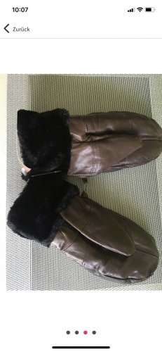 Unbekannte Marke Fur Gloves brown