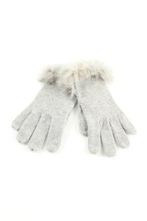 Guanto di pelliccia grigio chiaro puntinato stile casual