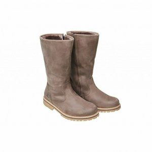 Fellhof Damen Winter Stiefel Leder Lammfell Dolomiti taupe braun 41 Boots