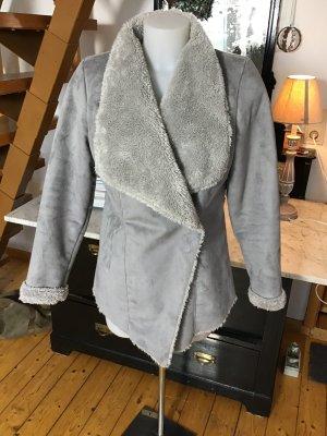 Boysen's Veste en fourrure argenté-gris clair polyamide