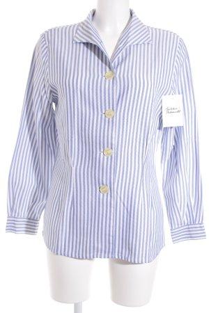 Fellini Langarmhemd weiß-blau Streifenmuster
