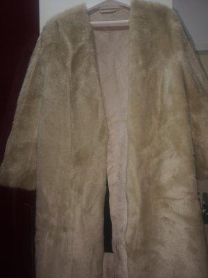 H&M Trend Giacca di pelliccia crema