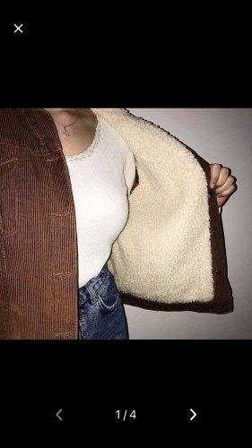 Pull & Bear Fur Jacket multicolored