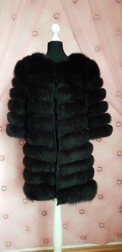 Fake Fur Jacket dark brown