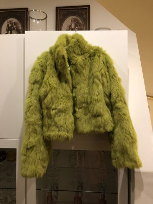 0039 Italy Fur Jacket lime yellow