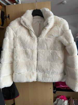 JS Millenium Giacca di pelliccia bianco sporco