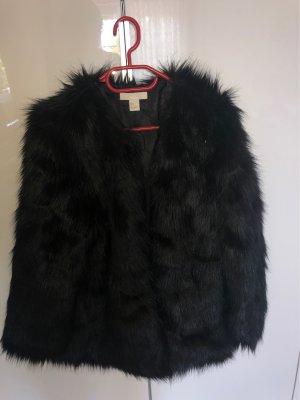 H&M Basic Giacca di pelliccia nero