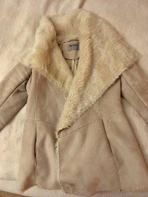 Bershka Kurtka zimowa Wielokolorowy Tkanina z mieszanych włókien