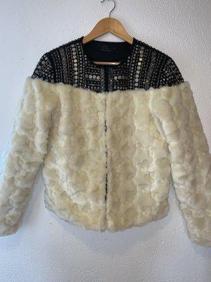 Only Fake Fur Jacket natural white-cream