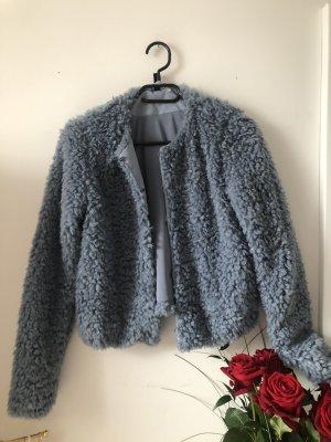devided Fur Jacket slate-gray