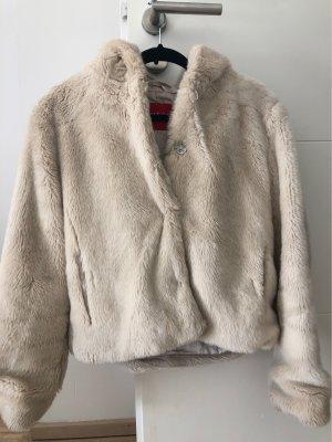 GUESS Los Angeles Fake Fur Coat cream