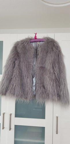 H&M Giacca in eco pelliccia grigio