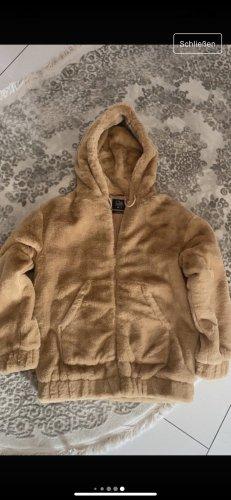 Clockhouse Fake Fur Jacket light brown