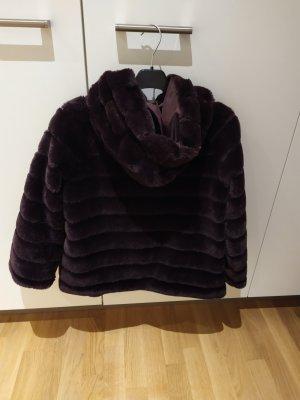 King Kong Giacca in eco pelliccia marrone-viola-viola scuro