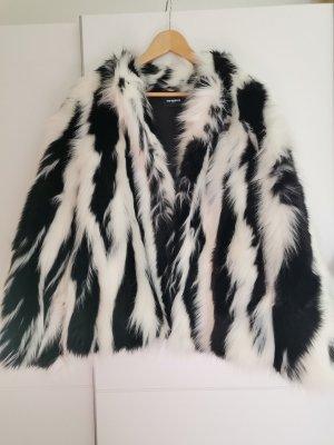 The Kooples Futrzana kurtka czarny-biały Futro