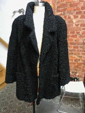 Veste de fourrure noir
