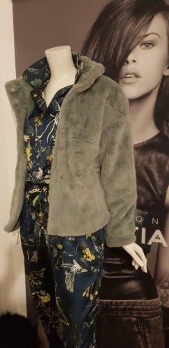 aus Italien Fake Fur Jacket sage green