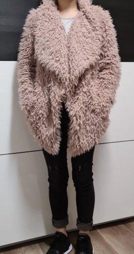 Zara Fur Jacket dusky pink