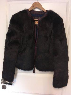 Boss Orange Fur Jacket bordeaux