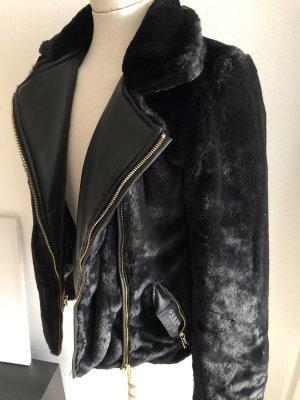 Guess Fur Jacket black