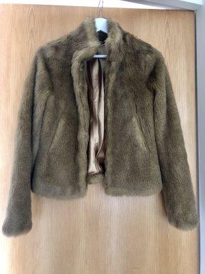 H&M Fur Jacket brown