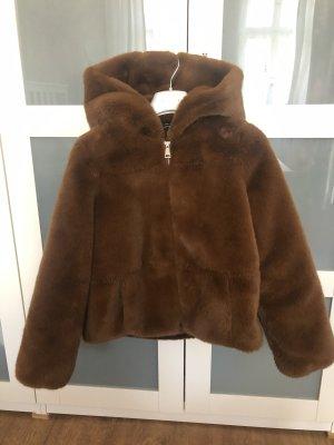 Zara Giacca di pelliccia marrone