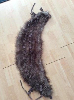 Fur Jacket dark grey-black brown