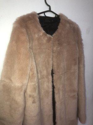 Only Fashion Futrzana kurtka beżowy-kremowy