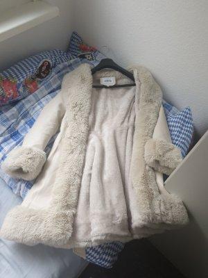 keine Marke Manteau en fausse fourrure blanc