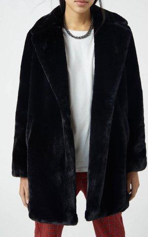Pull & Bear Manteau en fausse fourrure noir