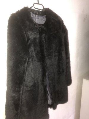 Only Fashion Futrzana kurtka czarny
