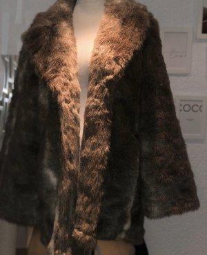 H&M Manteau de fourrure brun