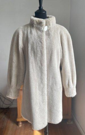 Hawela Pelt Coat cream-natural white alpaca wool