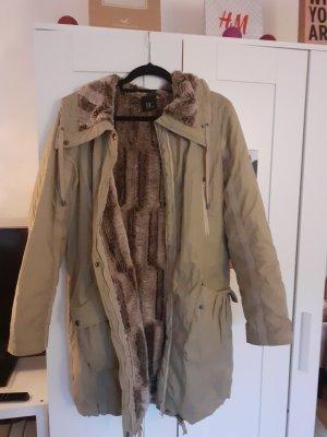 Best Connections Płaszcz zimowy kremowy-jasnobeżowy