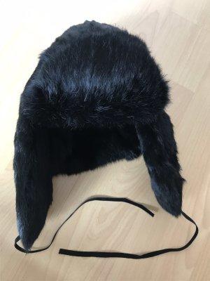 Passigatti Futrzana czapka czarno-brązowy