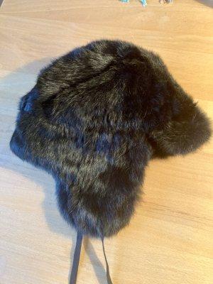 Tommy Hilfiger Fur Hat black pelt