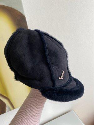 Mühlbauer Sombrero de piel azul oscuro