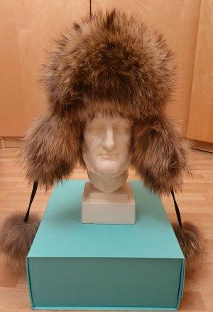 Exclusive Chapeau en fourrure brun foncé