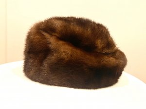 Vintage Fur Hat brown pelt