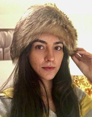 Sombrero de piel multicolor Piel