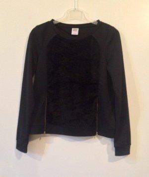 Fellpulli - Sweatshirt mit Fell Reißverschlüssen