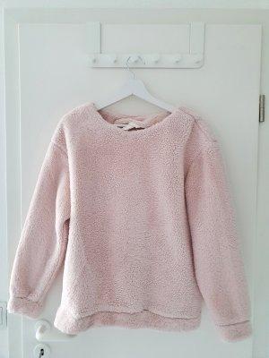 H&M Sudadera de forro rosa empolvado-rosa