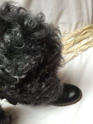 Laarzen met bont donkerbruin-zwart
