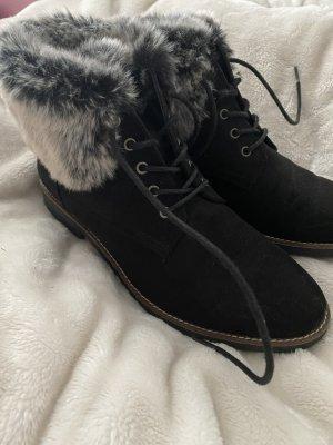 Landrover Fur Boots black cotton