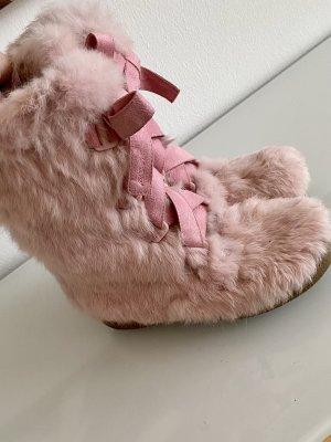 DKNY Futrzane buty jasny różowy