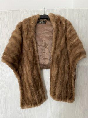 Fur vest brown-beige